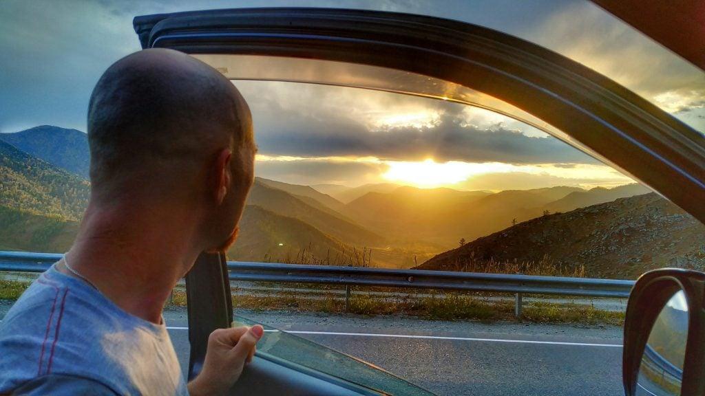 закат на перевале Чике-Таман