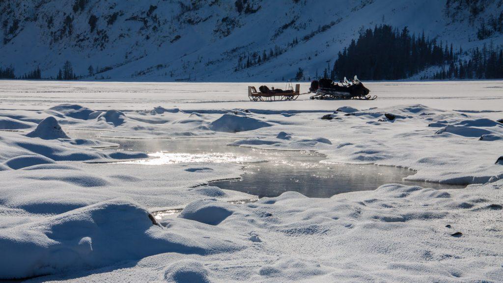 прогулка на снегоходах к Мультинским озёрам