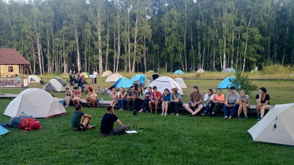 Усть-Кокса, палаточный лагерь