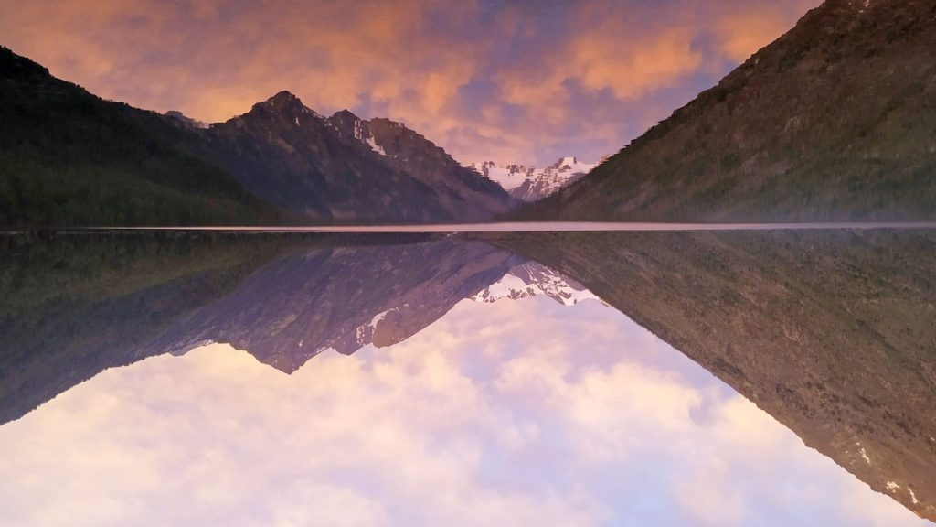 Нижнее Мультинское озеро, закат